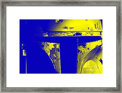 Boba Fett Helmet Framed Print