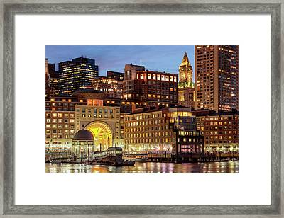 Boston Framed Print by Babak Tafreshi