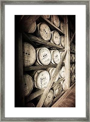 Bourbon Barrels Framed Print