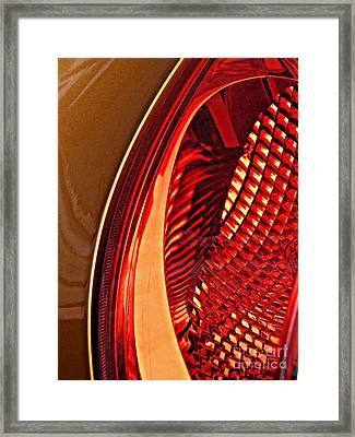 Brake Light 5 Framed Print by Sarah Loft