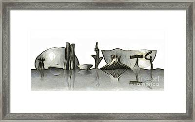 Brasilia Skyline Framed Print by Michal Boubin