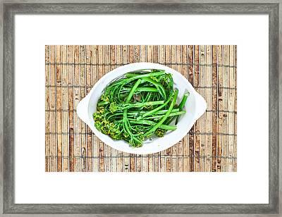 Broccoli Stems Framed Print by Tom Gowanlock
