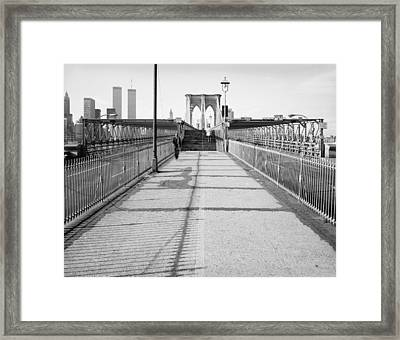 Brooklyn Bridge, 1982 Framed Print