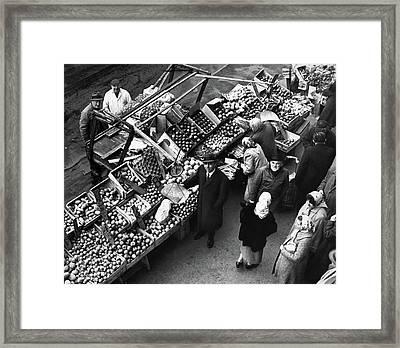 Brooklyn Market, 1962 Framed Print by Granger