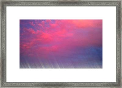 Bryant-denny Painted Sky Framed Print by Kenny Glover
