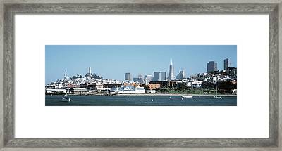 Buildings At The Waterfront, San Framed Print