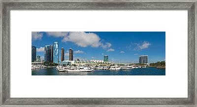 Buildings In A City, San Diego Framed Print