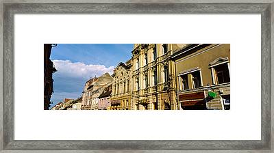 Buildings In A City, Town Center Framed Print by Panoramic Images