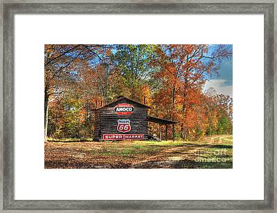 4 Burner Barn In Fall Framed Print by Benanne Stiens