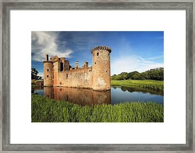 Caerlaverock Castle Framed Print by Grant Glendinning