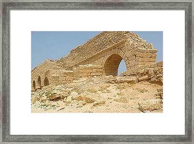 Caesarea Israel Ancient Roman Remains Framed Print by Robert Birkenes