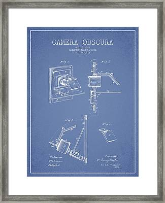 Camera Obscura Patent Drawing From 1881 Framed Print