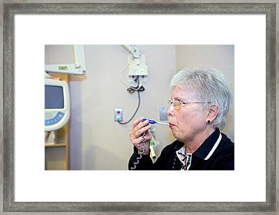Cancer Research Framed Print