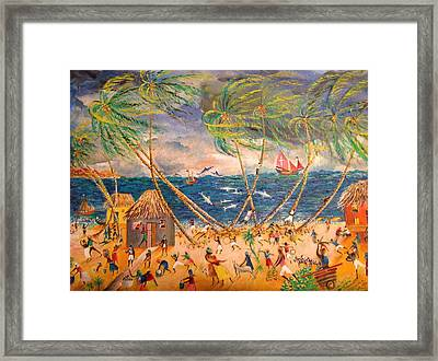 Caribbean Village Framed Print by Egidio Graziani