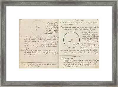 Caroline Herschel Comet Discovery Framed Print
