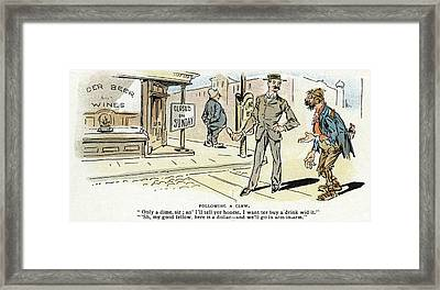 Cartoon Blue Laws, 1895 Framed Print by Granger
