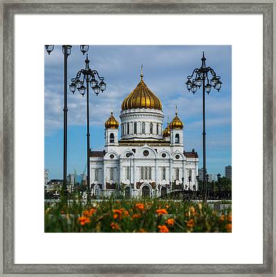 Cathedral Of Christ The Savior Of Moscow - Russia - Featured 3 Framed Print