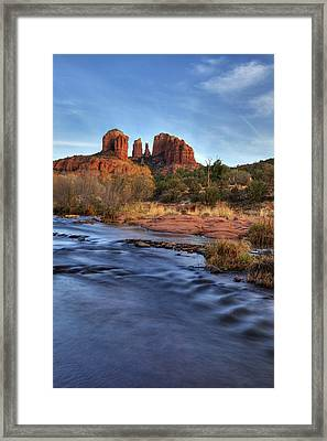Cathedral Rocks In Sedona Framed Print by Alan Vance Ley