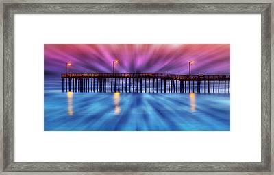 Cayucos Pier Framed Print
