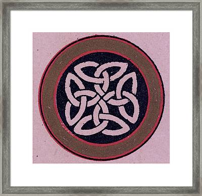 Celtic Ornament Framed Print by Litz Collection