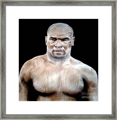 Framed Print featuring the painting Champion Boxer And Actor Mike Tyson by Jim Fitzpatrick