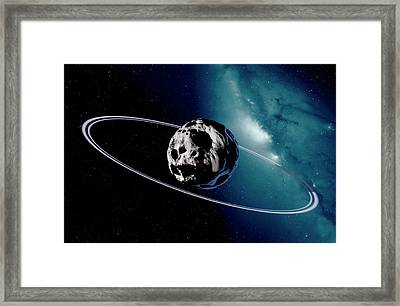 Chariklo Minor Planet And Rings Framed Print
