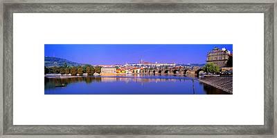 Charles Bridge, Prague, Czech Republic Framed Print by Panoramic Images
