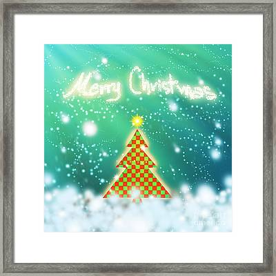 Chess Style Christmas Tree Framed Print by Atiketta Sangasaeng