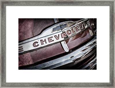 Chevrolet Pickup Truck Grille Emblem Framed Print