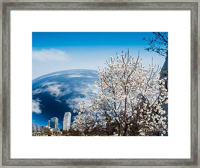 Chicago Bean Millenium Park Framed Print