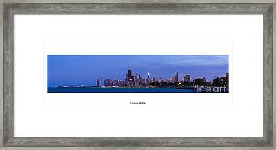 Chicago Skyline Framed Print by Twenty Two North Photography