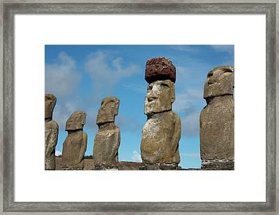 Chile, Easter Island, Hanga Nui Framed Print by Cindy Miller Hopkins