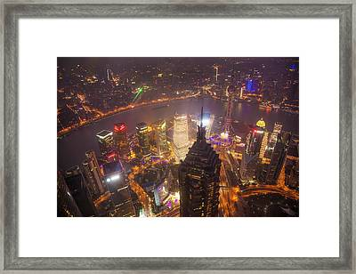 China, Shanghai Downtown Buildings Framed Print