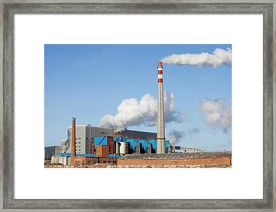 Chinese Coal Fired Power Station Framed Print