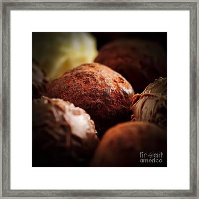 Chocolate Truffles Framed Print by Elena Elisseeva