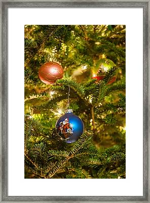 Framed Print featuring the photograph Christmas Tree Ornaments by Alex Grichenko