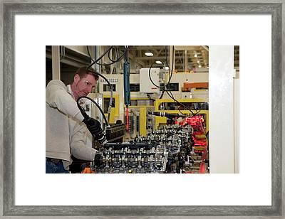 Chrysler Engine Factory Framed Print