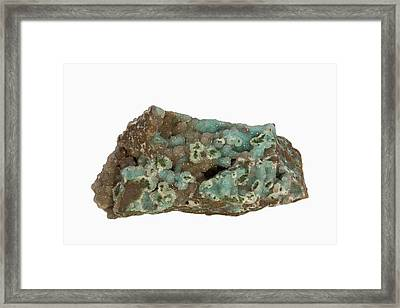 Chrysocolla Framed Print by Science Stock Photography/science Photo Library