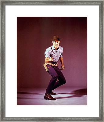 Chuck Connors In The Rifleman Framed Print by Silver Screen