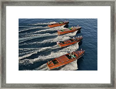 Heading To The Boat Show Framed Print by Steven Lapkin