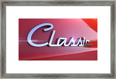 Classic Chrome Car Emblem Framed Print
