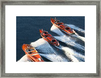 Classic Runabouts Framed Print