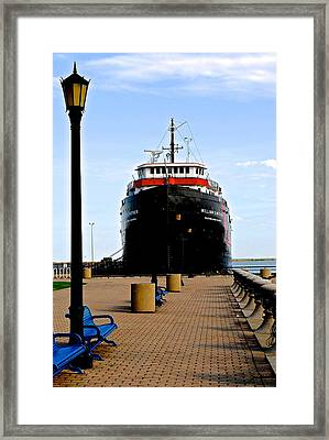 Cleveland Skyline Framed Print by Frozen in Time Fine Art Photography