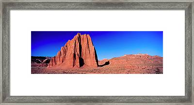Cliff In Capitol Reef National Park Framed Print