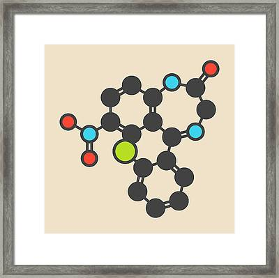 Clonazepam Benzodiazepine Drug Molecule Framed Print