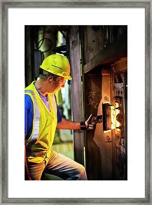 Coal-fired Power Station Worker Framed Print