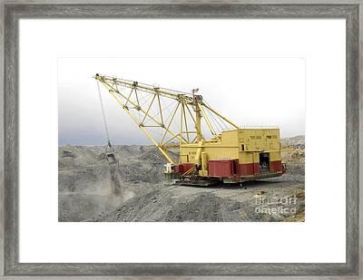 Coal Strip Mining Framed Print by RIA Novosti