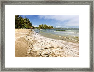 Coast Of Pacific Ocean On Vancouver Island Framed Print