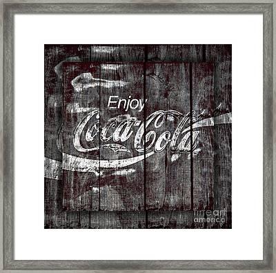 Coca Cola Sign Framed Print by John Stephens