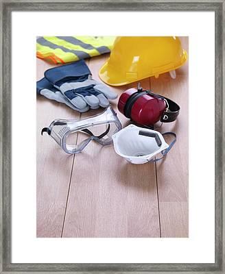 Construction Safety Equipment Framed Print by Tek Image